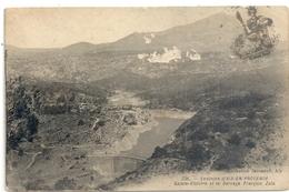 236. Environs D'AIX-EN-PROVENCE . SAINTE-VICTOIRE ET LE BARRAGE FRANCOIS ZOLA + CACHET MILITAIRE SUR RECTO. 7-10-1914 . - France