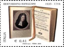 ITALIA REPUBBLICA ITALY REPUBLIC 2003 BERNARDINO RAMAZZINI MNH - 6. 1946-.. Repubblica