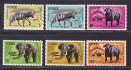 GUINEE N°  202 à 207 ** MNH Neufs Sans Charnière, TB (D8549) Animaux Hyènes, Boeufs, Eléphants 1964 - Guinée (1958-...)