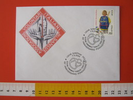 A.09 ITALIA ANNULLO - 2000 SANTHIA VERCELLI 35 ANNI  SEZIONE AVIS A.V.I.S DONO DEL SANGUE SALUTE - Medicina