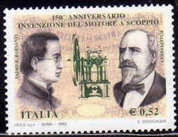 ITALIA REPUBBLICA ITALY REPUBLIC 2003 INVENZIONE MOTORE A SCOPPIO BENINI FIRENZE BARSANTI MATTEUCCI  MNH - 6. 1946-.. Repubblica
