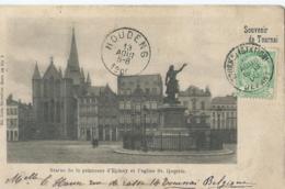 Doornik - Tournai - Souvenir De Tournai - Statue De La Princesse D'Epinoy Et L'eglise St. Quentin - Série 48 No 3 - 1900 - Doornik