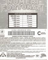 GRATTA E VINCI   - NUMERI FORTUNATI Codice DD NUMERO 47  DA € 3.00 - USATO (SERIE STELLA) - Biglietti Della Lotteria