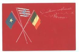 Les Meilleurs Compliments De La Jolie Ville De Bruges (relief, Drapeaux Collés...) - Brugge