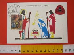A.09 ITALIA ANNULLO - 1993 NOVARA 20 ANNI  SEZIONE AIDO A.I.D.O. DONO DEGLI ORGANI SALUTE PRESEPIO NATALE MAXIMUM - Medicina