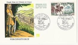 FDC FOC06 - France Env. 1er Jour - Vercingétorix - 63 Clermont Ferrand 5.11.66 - Timbre 1495 - 1960-1969