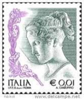 ITALIA REPUBBLICA ITALY REPUBLIC 2003 2004 LA DONNA NELL'ARTE WOMAN IN THE ART € 0,01 CENT. 1 MNH - 6. 1946-.. Repubblica