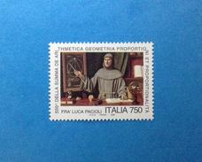 1994 ITALIA FRANCOBOLLO NUOVO STAMP NEW MNH** - LUCA PACIOLI - - 6. 1946-.. Repubblica
