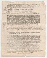 Généralité De Tours élection De Laval 1720 - Cachets Généralité
