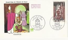 FDC FOC06 - France Env. 1er Jour - Clovis - 51 Reims  5.11.66 - Timbre 1496 - 1960-1969
