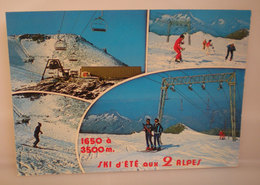 Sci Impianti Ski D'Ete Aux 2 Alpes Cartolina 1987 - Sport Invernali