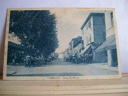 1936 ?- Viareggio - Piazza Del Mercato - Cartolina Storica - Stock - Animata - Ed. Stab. Balena - Cartolina Storica - Viareggio