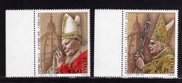 ITALIA REPUBBLICA ITALY REPUBLIC 2005 PAPA GIOVANNI PAOLO II E BENEDETTO XVI SERIE COMPLETA MNH - 6. 1946-.. Repubblica