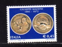 ITALIA REPUBBLICA ITALY REPUBLIC 2005 BICENTENARIO DELLA NASCITA DI GIUSEPPE MAZZINI MNH - 6. 1946-.. Repubblica
