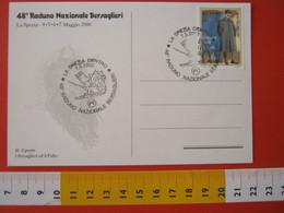 A.09 ITALIA ANNULLO - 2000 LA SPEZIA RADUNO NAZIONALE BERSAGLIERI BERSAGLIERE NAVE NAVY CARD 1 - Militaria