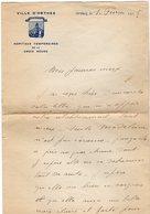 VP14.582 - Guerre 14 / 18 - Ville D'ORTHEZ Hopitaux Temporaires De La Croix  Rouge 1915 - Lettre D'un Docteur ?? - Manuscripts