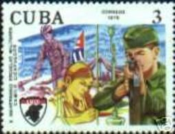 CUBA/KUBA 1976 X ANIV. DE LA ESCUELA MILITAR CAMILO CIENFUEGOS MNH - Non Classificati
