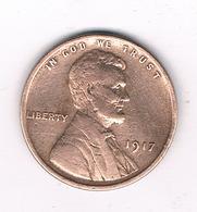ONE  CENT 1917  USA /1374/ - Émissions Fédérales