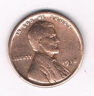 ONE  CENT 1918 USA /1375/ - Émissions Fédérales