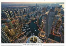 Dubai Marina From Above, Belle Carte Postale Dubai, Adressée Andorra, Avec Timbre à Date Arrivée - Emirats Arabes Unis