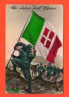 Alpini E Muli In Marcia Da La Thuil A Treviso Motto Altius Tendo Tricolore - Guerra 1939-45