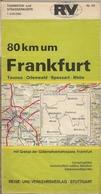 FRANKFURT (ALLEMAGNE) - CARTE ROUTIÈRE - (RV) - 200.000ème. - Cartes Routières