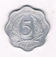 5 CENTS  1984 EAST CARIBBAEN  STATES /1380/ - Monnaies