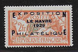 France 1929 Exposition Philatélique Du Havre  Yvert : 257A N* Signée - France