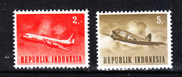 "Indonesia - 1964. I Due "" Aerei "" Della Serie. The Two ""Airplanes"" Of The Series. MNH - Aerei"