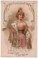 CPA Publicitaire Crème Simon Art Nouveau  Texte Et Litho Maria Legault Artiste éventail - Advertising