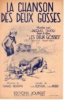1936 - TRES BELLE PARTITION CHANSON DU FILM LES 2 GOSSES - ILLUSTRATEUR POULBOT - EXC ETAT - - Scores & Partitions
