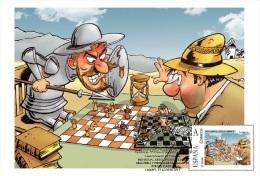 Spain 2015 - Chess Series Don Quijote Jugando Ajedrez Maxicard - Echecs