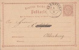 DR Ganzsache Nachv. Hannover-Stempel Barnstorf 4.9. Gel. Nach Oldenburg - Deutschland