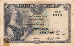 NOTA - 50 CENTAVOS CH. 1 - 1918 - Portugal