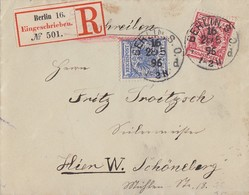 DR Orts-R-Brief Mif Minr.47, 48 Berlin 28.5.96 Ankunftsst. KOS Schöneberg Bei Berlin 28.5.95 - Deutschland