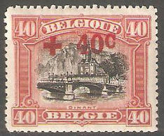 Belgie OCB 158 X Zeer Mooi Cote 13,50 Euro - 1918 Croix-Rouge