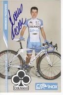 DOMENICO POZZOVIVO   SIGNEE  COLNAGO CSF - Cyclisme