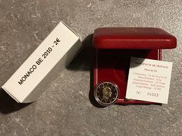 * MONACO 2 EURO 2010 BE Albert II Dans écrin De Luxe + Certificat ***RARE*** - Monaco