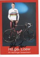 HOLGER  LOEW  CHAMPION DU MONDE  SIGNEE - Cyclisme