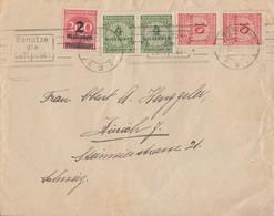DR Brief Mif Minr.309A,2x 316,2x 318A München 25.10.23 Gel. In Schweiz - Deutschland
