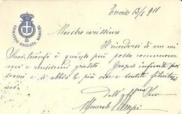 """2675 """" COMANDO BRIGATA MARCHE SPEDITA NEL 1911 DA TREVISO A BERGAMO """" BUSTA.POST.ORIG.SPEDITA - Militari"""
