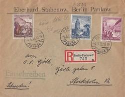 DR R-Brief Mif Minr.681,682,683 Berlin-Pankow 4.3.39 Gel. Nach Schweden - Germany