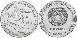PMR Transnistrija,2017, 1 Rbl, Rubel Winter Olympic 2018 - Russia