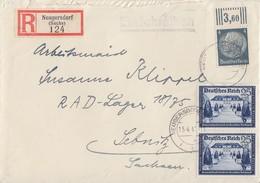 DR R-Brief Mif Minr.514 OR, 2x 713 Neugersdorf 15.4.41 - Deutschland