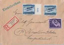 DR R-Brief Mif Minr.876,2x 882 Frankfurt-Niederrad 18.5.44 - Allemagne