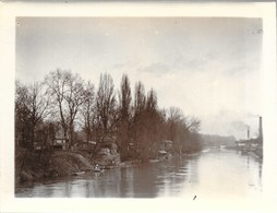NEUILLY-Sur-SEINE (92-Hauts- De Seine) Rive Gauche, L'Ile De La Jatte Prise De L'Extrémité Du Pont - Places