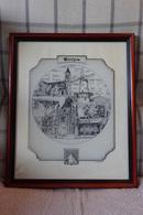 * Wevelgem (Menen - Kortrijk) * Zeer Oude Gravure Van Wevelgem, Kader, Tekening, Rare, G. Swaenepoel Molen - Gravures