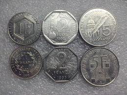 France  Different Commemorative  1 -  5 Francs  , 6 Pcs. - France