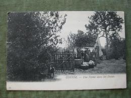 COXYDE - UNE FERME DANS LES DUNES 1907 ( Scan Recto/verso ) - Koksijde