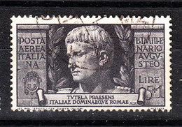 Italia   -   1937.  Bimillenario Augusteo.  P. Aerea 5+1. Viaggiato, Raro - 1900-44 Vittorio Emanuele III